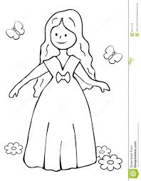 princess coloring book stock vector image 50371318