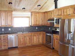 knotty hickory cabinets kitchen denver rustic hickory cabinets kitchen with slate tile sensor cook