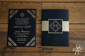amanda james u0027s gold foil art deco wedding invitation suite