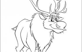 sven deer frozen coloring book