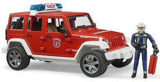 jeep toy bruder 02528 jeep wrangler unlimited rubicon fire engine