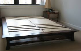 Build A Platform Bed Frame Plans by King Size Platform Bed Frames Oak Building King Size Platform