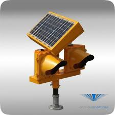 solar powered runway lights the solar series elevated runway guard light increases safety at