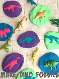 dinosaur activity for kids make dinosaur fossils simple play ideas