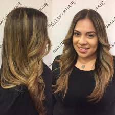 women u0027s longhair with curled front layers on light brown balayage