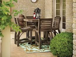 high table patio set matalinda 3 piece teak outdoor bar table set 363810 l stedmundsnscc