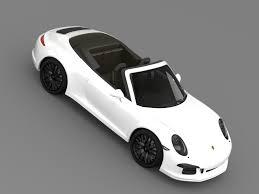 porsche 911 carrera gts white porsche 911 carrera 4 gts cabriolet 991 2015 by creator 3d 3docean