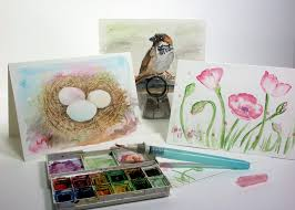 painted cards for sale watercolor cards thefrugalcrafter s weblog