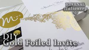 diy gold foil transfer wedding invitations heidi swapp minc
