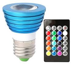 hitlights 3 watt color changing led light bulb with remote 16