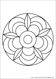 simple mandalas print color simple coloring simple mandalas