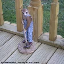 customer reviews for garden ornament meerkat gardener