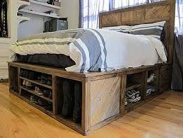 How To Make A King Size Platform Bed With Pallets by Wood Platform Beds With Storage Drawers