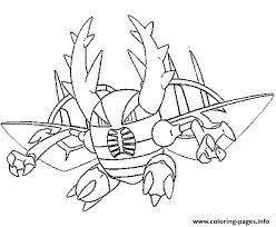 mega evolved pokemon mega pinsir coloring pages printable