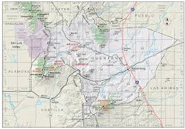 Colorado County Map by Huerfano County Colorado Geological Survey