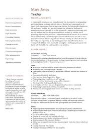resume template for teachers resume templates