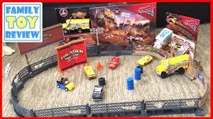 disney cars 3 toys miss fritter thunder hollow smash u0026 crash