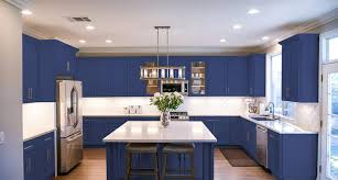 painting my kitchen cabinets blue easily renew your kitchen with a cabinet refinish diy