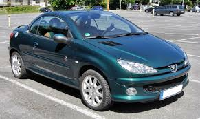 used peugeot 206 cc file peugeot 206 cc 20090815 front jpg wikimedia commons