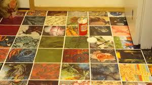decoupage on the kitchen floor part 2 youtube