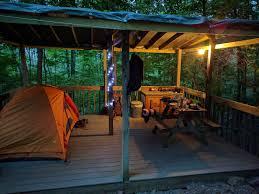 Platform Tents Hike In Platform Camping Malouf U0027s Mt Campground Ny 3 Hipcamper