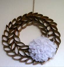tp roll wreath somewhere in the middle