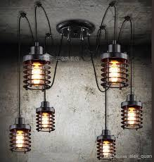 Edison Bulb Island Light Discount Vintage Wrought Iron Pendant Lamp Restaurant Pendant