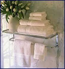 paris hotel style towel rack shelf w hooks 26