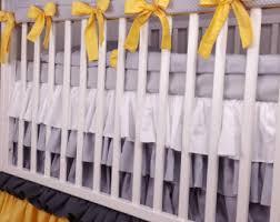 yellow crib bedding etsy