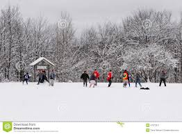 football game thanksgiving friendly game of american football in the snow editorial photo