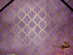 stenciled a trellis design over purple glazed walls in colby s stenciled a trellis design over purple glazed walls in colby s room