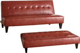 Sofa Sleeper Leather Modern Futon Rockaway The Futon Shop