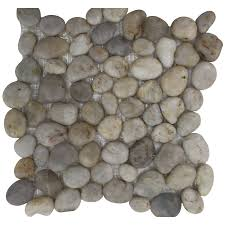 Laminate Flooring Lowes Canada Shop Bestview Silver Wheat 12 In X 12 In Pebble Mosaic Wall Tile