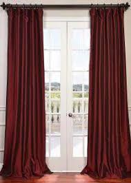 Faux Dupioni Silk Curtains Window Treatments Bellacor
