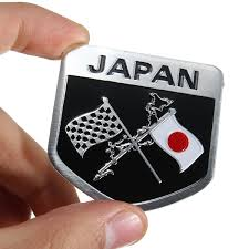 lexus japan japanese flag badge emblem decal sticker for toyota honda lexus