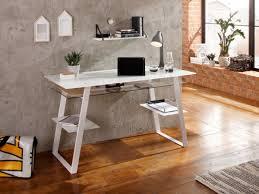modern desk with storage jenson modern white glass computer desk with storage by maja
