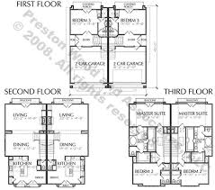 townhome plans townhome plan d4241 a b