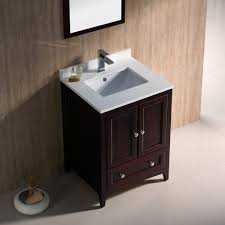 Mahogany Bathroom Vanity by Fresca Fvn2024mh Oxford Mahogany Single Basin Bathroom Vanity Sets