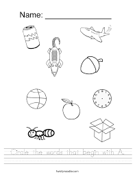letter a worksheets twisty noodle