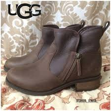 ugg australia womens emalie brown stout leather ankle boot 7 ebay 36 ugg shoes ugg ankle boot side zip lavelle stout brown