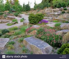 Rock Garden Bellevue Alpine Rock Garden Bellevue Botanical Garden Washington Stock