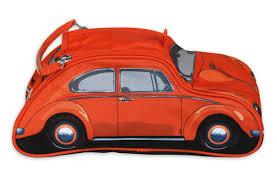 volkswagen orange vw beetle washbag orange