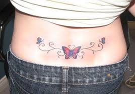 lower back butterfly tattoos for ideas for