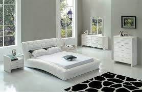 Bedroom Exquisite Image Of Modern Bedroom Decoration Using White - White leather headboard bedroom sets
