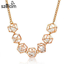 crystal necklace gold chain images Szelam luxury gold chain choker necklace 2017 fashion crystal jpg