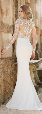 lace top wedding dress sheer back and sleeve antique lace top wedding dress with