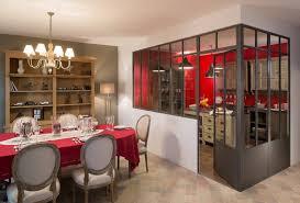 separation en verre cuisine salon fabricant installateur de verrière et séparation de pièce en verre à