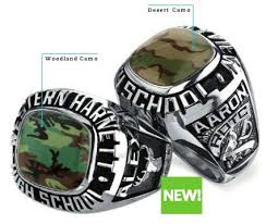 high school class ring companies camo class rings jewelry
