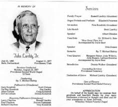 funeral program sle lds burial funeral planning