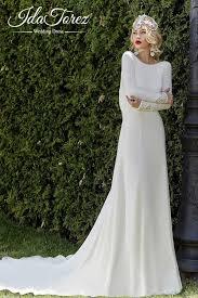open back wedding dresses sheath column court stretch crepe wedding dress draped 01010